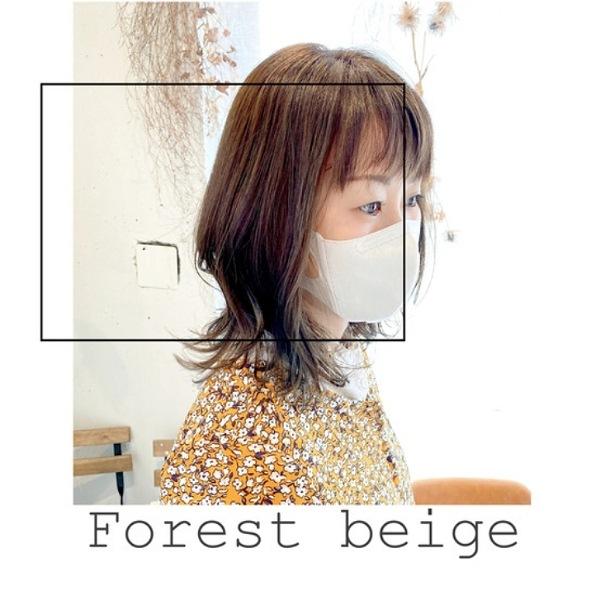 お客様hair♪ Forest beige