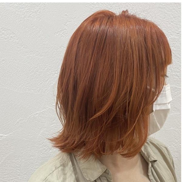 ブリーチ1回で出来る、オレンジカラー! @ueda